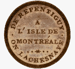 Lower Canada, bridge token, c.1808