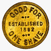 Samuel Anckorn, Owen Sound, Ontario, one- shave token 1892