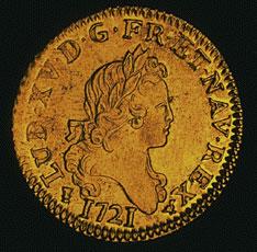 Gold louis, 1721