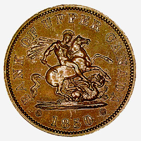 Copper Penny Token, 1850
