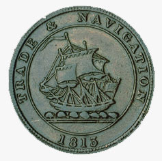 Trade and Navigation token, 1813, anonymous