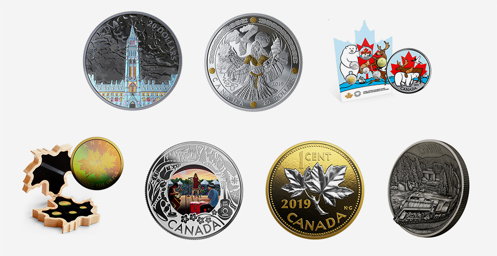 Royal Canadian Mint products - August 2019