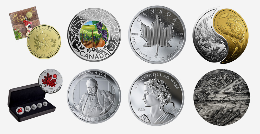 Royal Canadian Mint products - September 2019