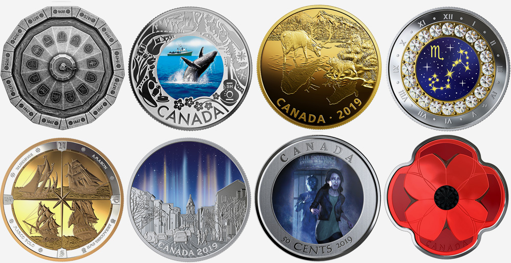 Royal Canadian Mint products - October 2019