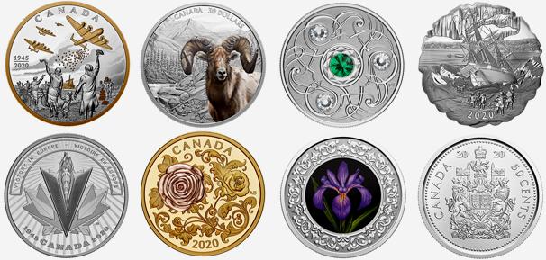 Produits de la Monnaie royale canadienne