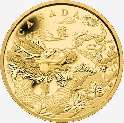 2012 GOLD FRACTIONAL COIN SET - THE YEAR OF THE DRAGON