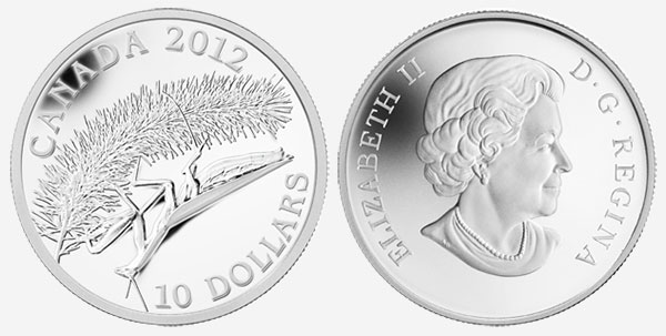 10 dollars 2012 - Mante religieuse