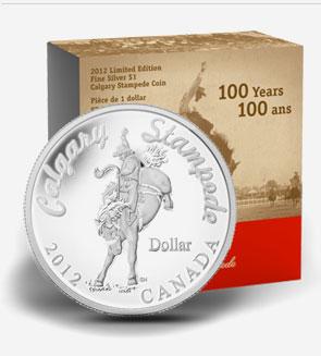 Dollar en argent - Stampede de Calgary