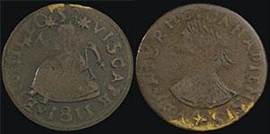 Canada, Vexator Canadiensis halfpenny token, c. 1820