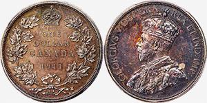 1 dollar 1911 - Canada