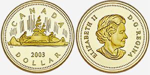 Gold 1 dollar 2003 - Canada