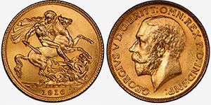 Gold Sovereign 1916 - Canada