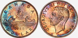 1 dollar 1948 - Canada
