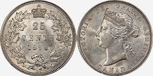 25 cents 1875 H - Canada
