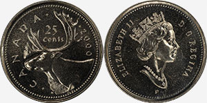25 cents 2000 P - Canada