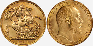 1909-C Gold Sovereign - Canada
