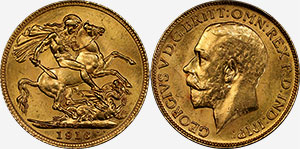 1916-C Gold Sovereign - Canada