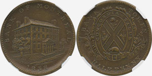 1/2 penny 1838 - Bank of Montreal Jeton