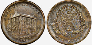1 penny 1838 - Bank of Montreal Jeton