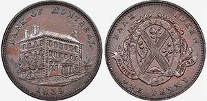 1 penny 1839 - Banque du Peuple Token