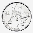 25 cents 2007 - Curling