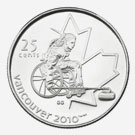 25 cents 2007 - Wheelchair Curling