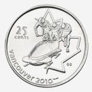 25 cents 2008 - Bobsleigh