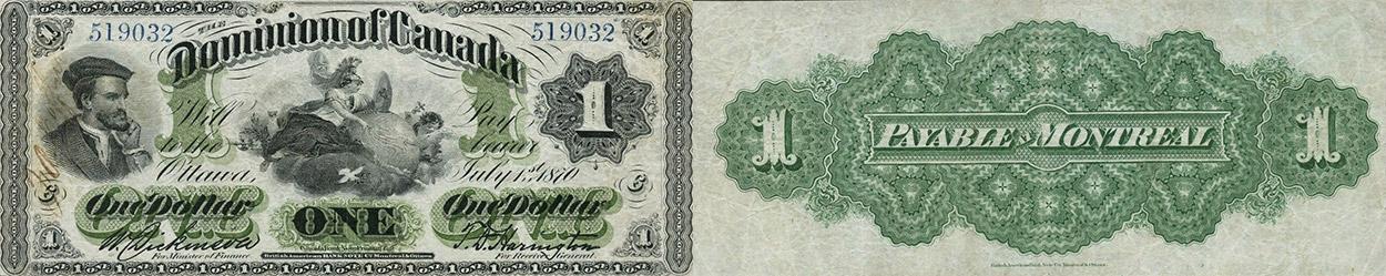 1 dollar 1870