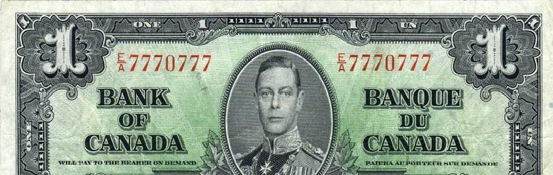 2 digits radar - Special serial number on canadian banknotes