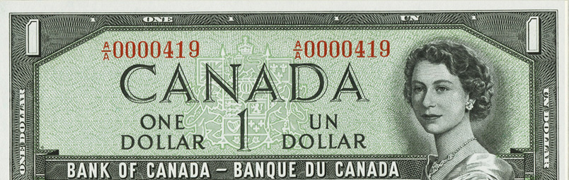 Low number (100 to 999) - Special serial numbers - Canadian Banknotes
