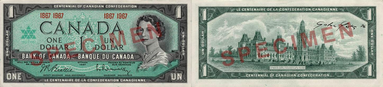 1 dollar 1967  - Canada Banknote