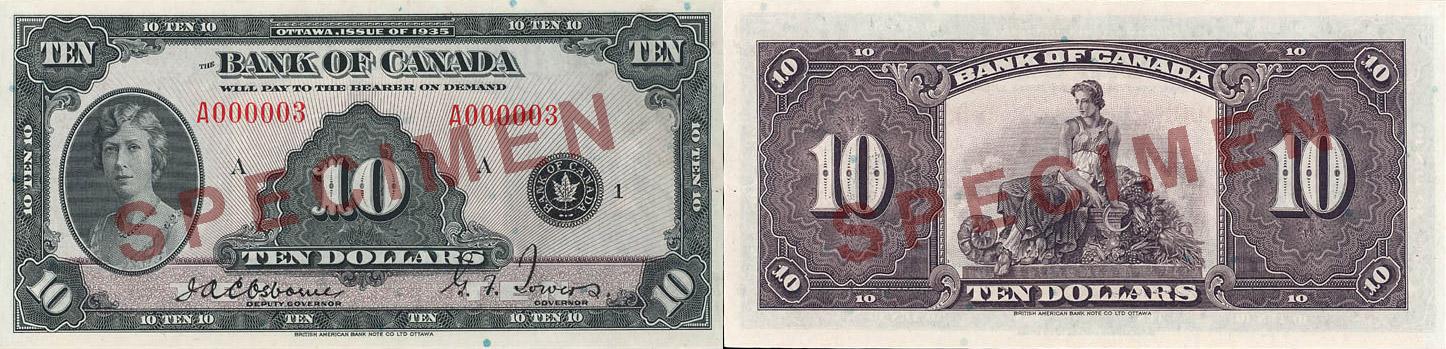 1935 - 10 dollars