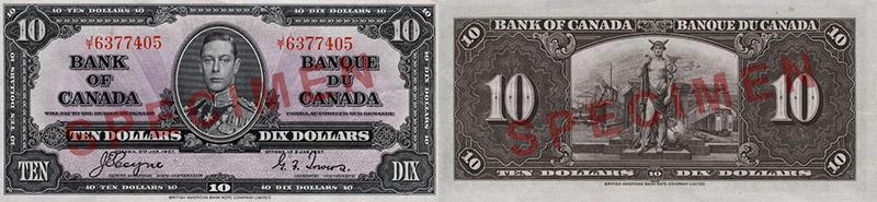 10 dollars 1937