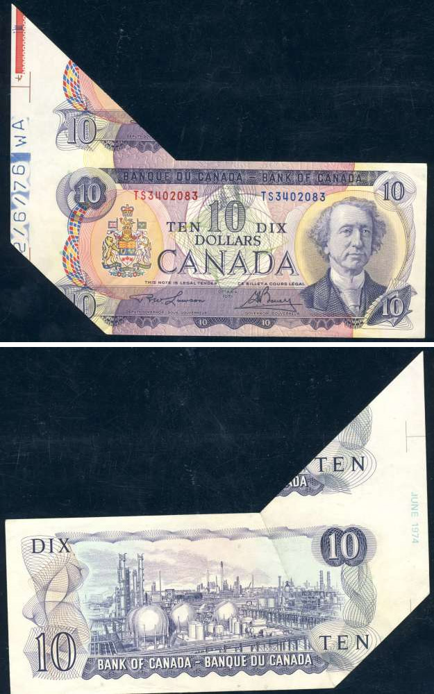 Coins and Canada - Banknotes errors and varieties - Canadian