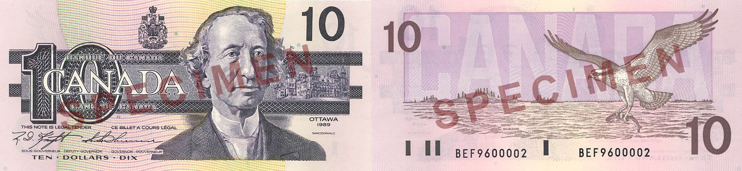 1986 - 10 dollars
