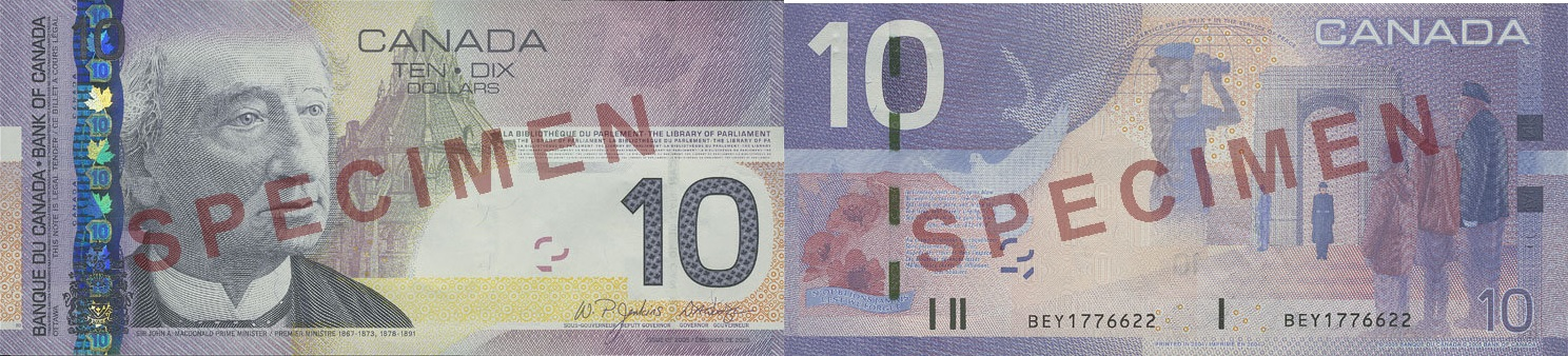 10 dollars 2004 to 2006 - Canada Banknote