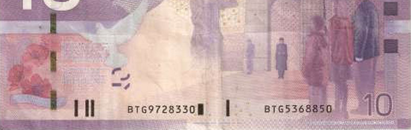 Mismatched serial numbers - Errors and varieties - Canada Banknote