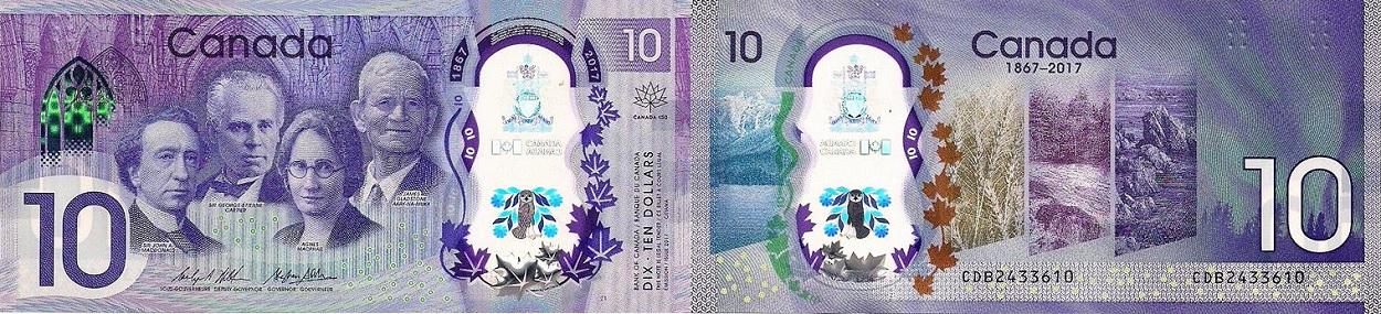 Banque du Canada - 10 dollars 2017