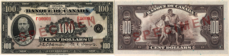 100 dollars 1935 - Canada Banknote