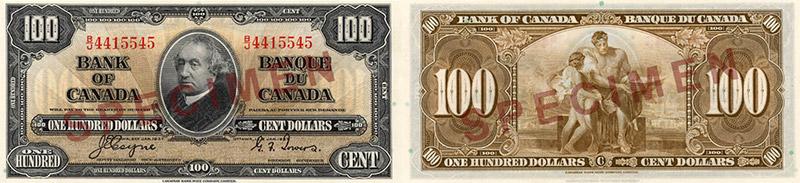 100 dollars 1937