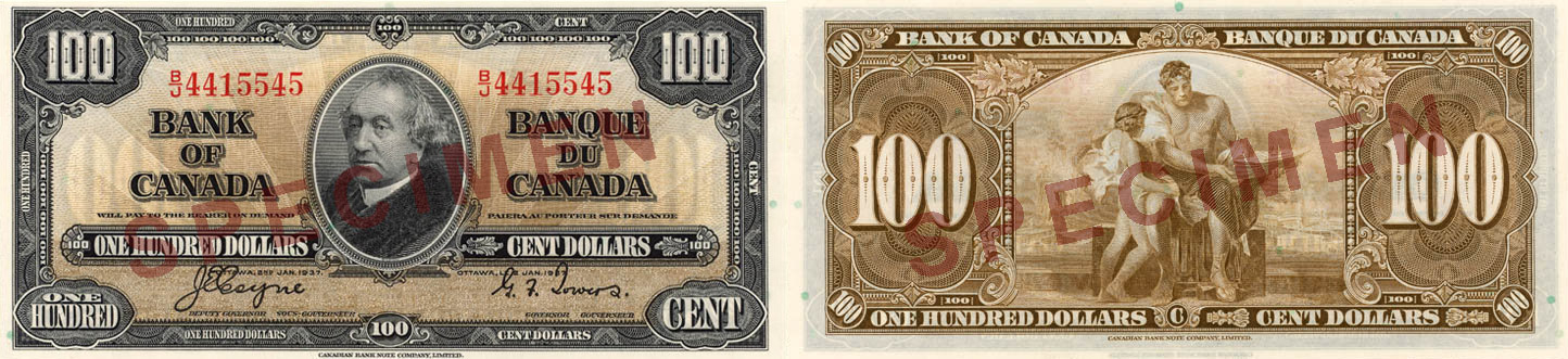 1937 - 100 dollars