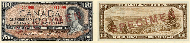 1954 - 100 dollars