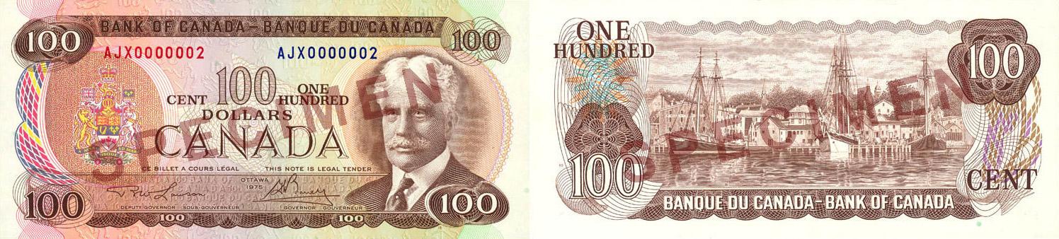 100 dollars 1969