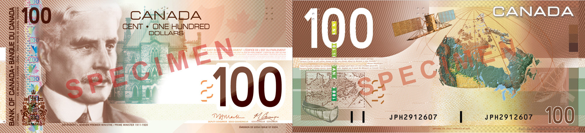 100 dollars 2004 to 2006 - Canada Banknote