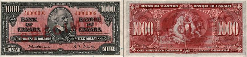 1,000 dollars 1937