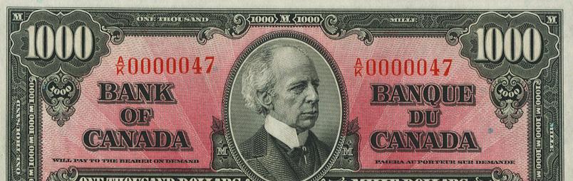 Numéro bas (10 à 99) - Numéro de série spécial - Canadian Banknotes