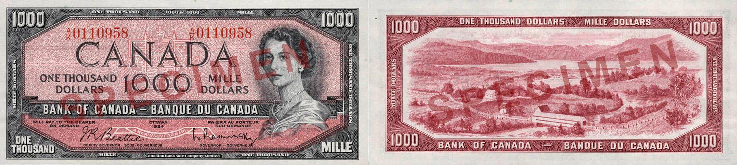 1954 - 1000 dollars