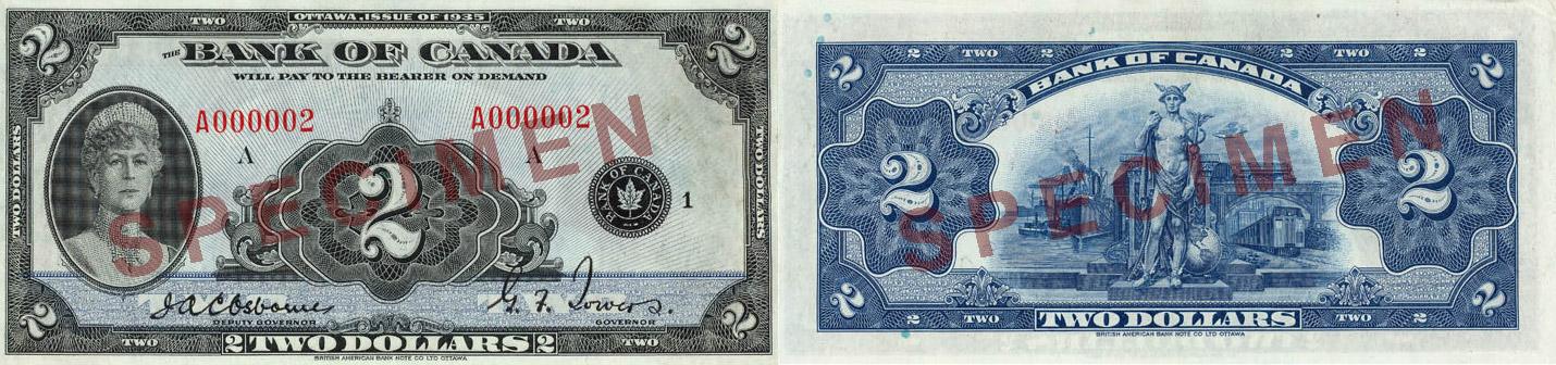 1935 - 2 dollars