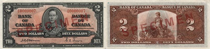2 dollars 1937