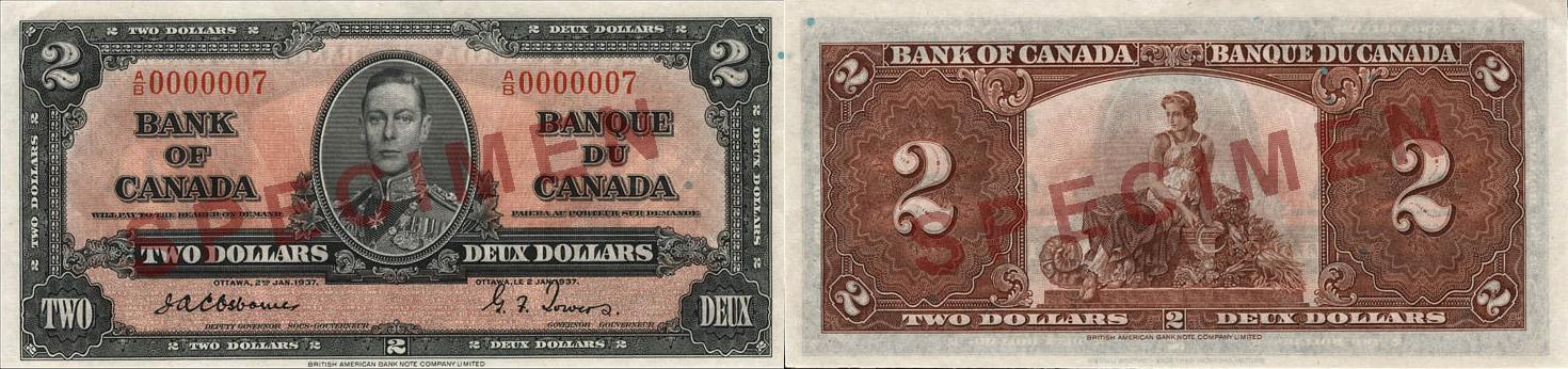 1937 - 2 dollars